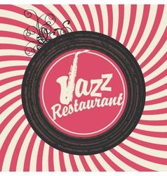 Jazz restaurant vector