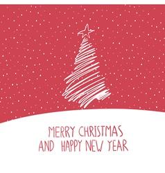 Hand drawn merry christmas card vector