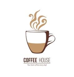 Coffee logo template vector