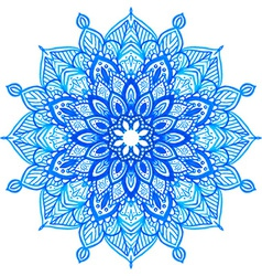 Watercolor hand drawn mandala vector