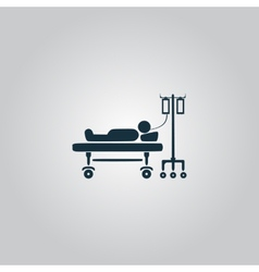 Life icons hospitalized vector