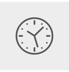 Clock thin line icon vector