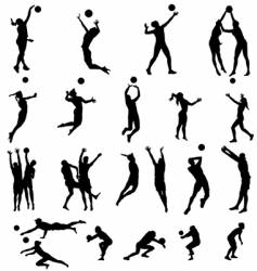 Volley silhouettes vector