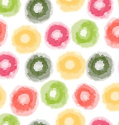 Seamless watercolor dots pattern vector