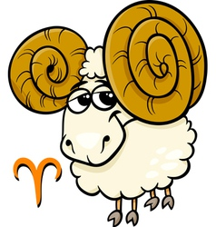 Aries or the ram zodiac sign vector