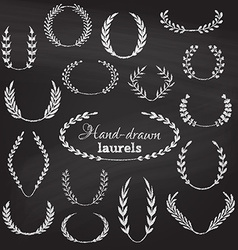 Set of chalk wreaths vector