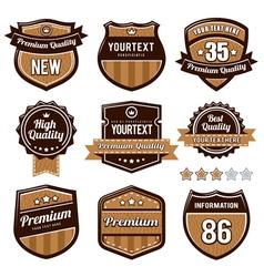 Set of retro badges vector