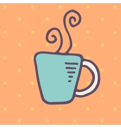 Cup of hot drink icon vector