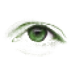 Abstract human digital eye vector