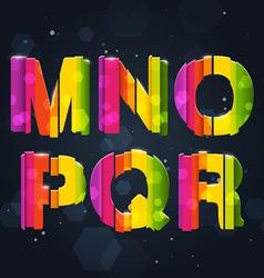 Abstract rainbow font m-r vector