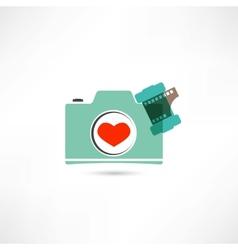 Love photo camera vector