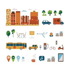 City elements clip art vector