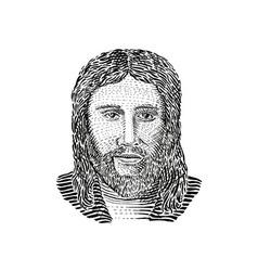 Jesus christ front view vector