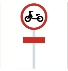 Traffic sign forbidden entrance moped - vector