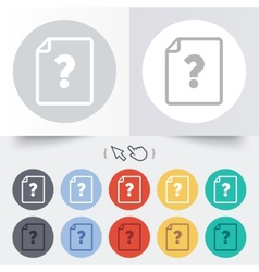 File document help icon question mark symbol vector