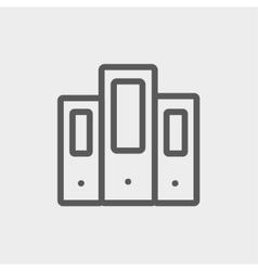 Binder thin line icon vector