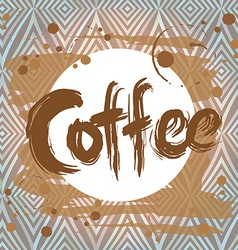 Poster with coffee stain design template vector