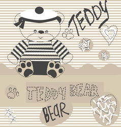 0515 6 teddy bear v vector