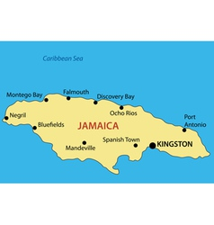 Commonwealth of jamaica - map vector