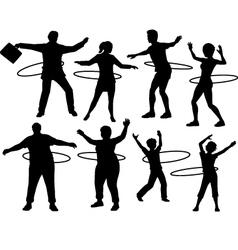 Hula hoop people vector