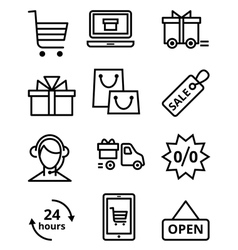 Online store icon vector