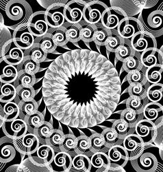 Spirograph art design vector