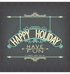 Holiday retro design lettering ornament vector