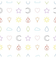 Random abstract icons seamless pattern vector