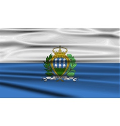 Flag of san marino with old texture vector