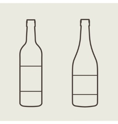 Wine bottle sign set bottle icon vector