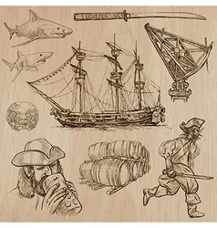 Pirates - an hand drawn pack vector