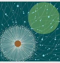 Square card white dandelion vector