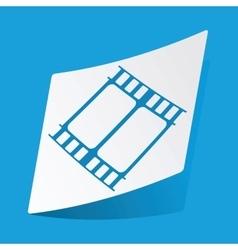 Movie sticker vector