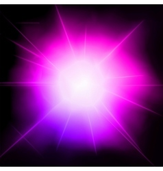 Light flare pink effect vector