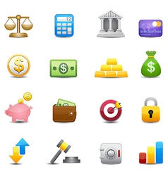 Business and finance money icons vector