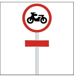 Traffic sign forbidden entrance motorcycle vector
