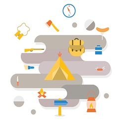 Adventure camping icon vector