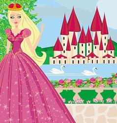 Beautiful princess in the garden vector
