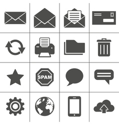 Mail icons set - simplus series vector