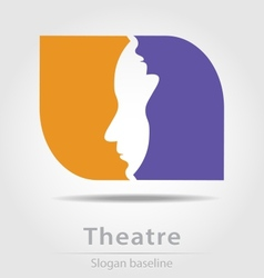 Original theatre business icon vector
