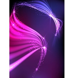 Abstract neon waves vector