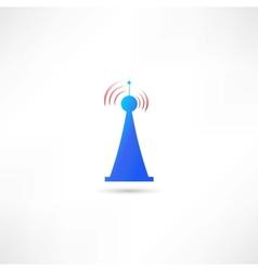 Blue antenna vector