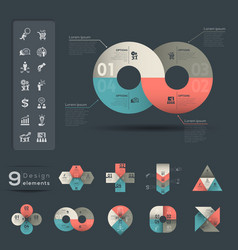 Infographic design element template vector