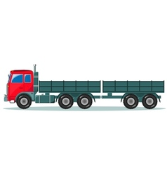 Machine with two empty trailers vector
