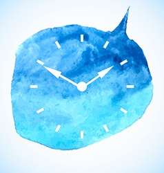 The watch dial on watercolor spot vector