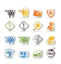 Online shop icons - icon set vector