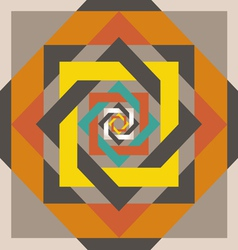 Geometrical design a square in a square vector