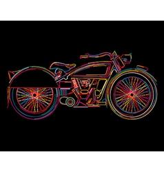 Vintage motorcycle sketch vector