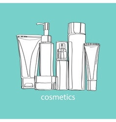 Set of cosmetics vector
