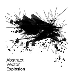 Abstract explosion geometric grunge backgroun vector